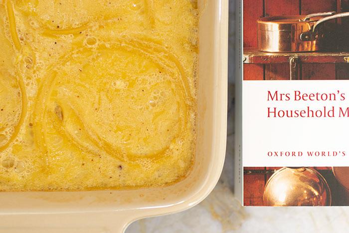 Victorian Macaroni Pudding. Next to Mrs. Beeton's book