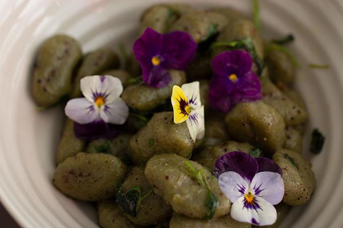 Citroenmelisse Gnocchi - spinach