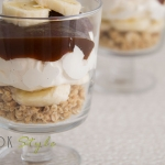 Banoffee pie with dark salted toffee