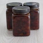 Nectarine jam with fruit bits