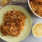 Vegetarian Tagliatelle Bolognese