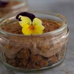 Vegan Cheesecake. Chocolate and Biscoff