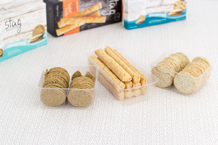 Stag bakeries seaweed oatcakes seaweed water biscuits and cheese straws