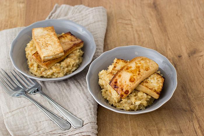 Vegan peanut butter risotto
