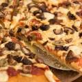 Slices of Shiitake Mushroom Pizza