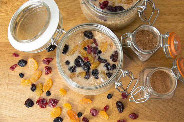 Spiced Apple Overnight oats