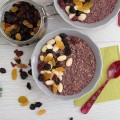 Mulled Wine Overnight Oats, both bowls