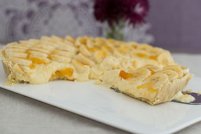 Royal Recipes Banana flan. Slice