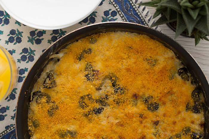 Janssons frestelse in the pan