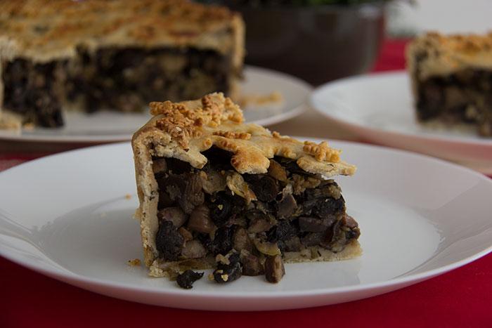 Slice of Chestnuts, Mushrooms, and Apple Pie