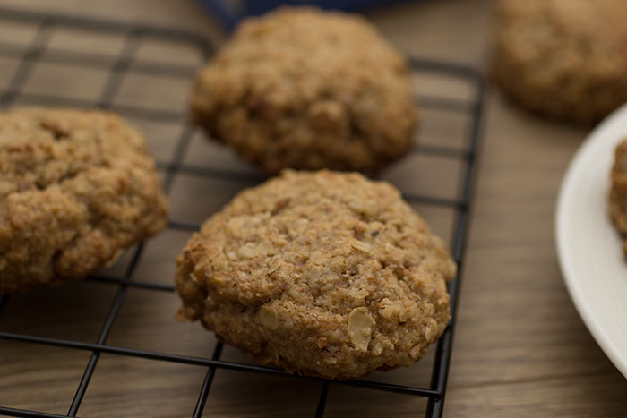 Close up with Peanut butter cookies