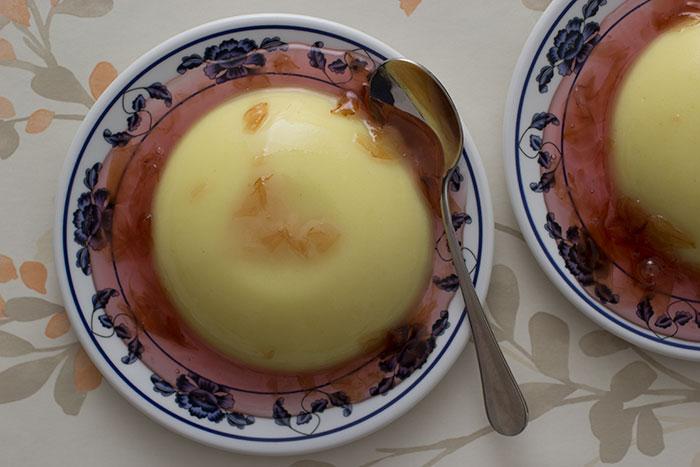 Orange blossom Semolina Pudding and Rose Jam