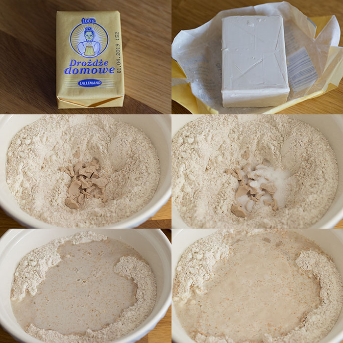 How to Bake with Fresh Yeast. Making the dough