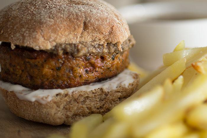 Burger with Mushroom Ketchup