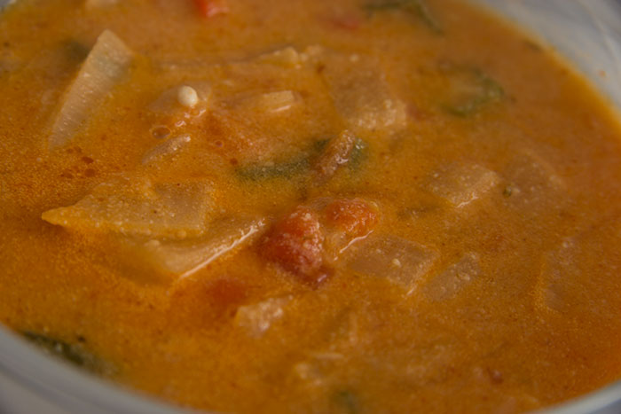 African Peanut Soup. Close up