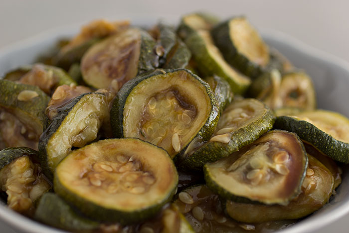 Roasted courgette salad