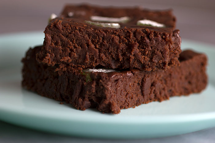 Mint Vegan Brownies
