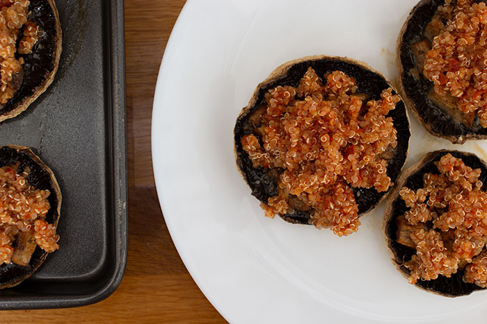 Quinoa stuffed mushrooms