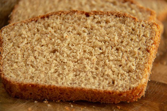 Slice of Split pea bread
